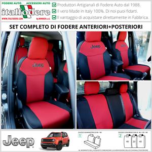 FODERE COPRISEDILI Jeep Renegade SU MISURA! Fodera Foderine COMPLETE Rosso