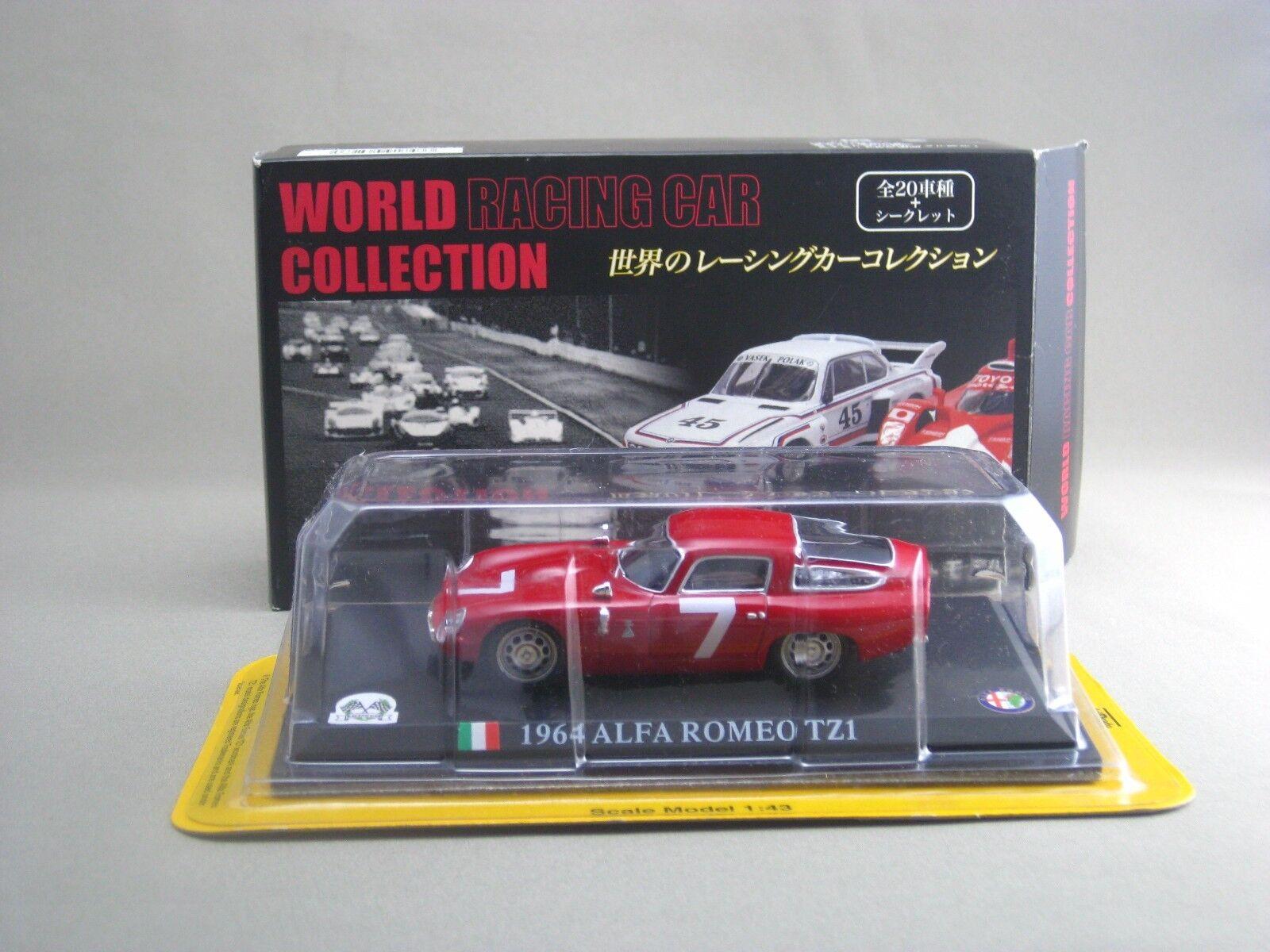 Alfa Romeo TZ1 1964 1 43 DIE CAST MODEL WORLD RACING CAR COLLECTION DELPRADO