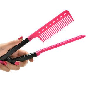 Folding-V-Comb-Hair-Straightener-Hairdressing-Salon-Straightening-Brush-Tops-T