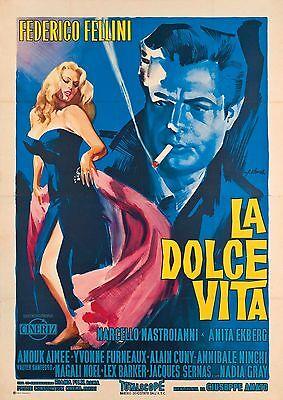Vintage Movie Film Poster A4,A3,A2,A1 Home Wall Art Print LA DOLCE VITA 2
