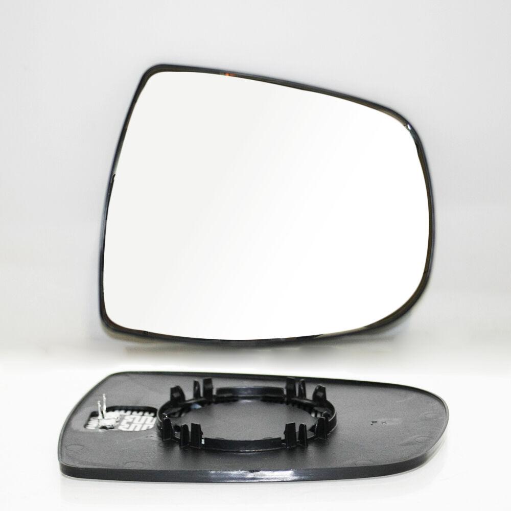 Recambio cristal espejo retrovisor con base Izquierdo Opel Vivaro 01=/>