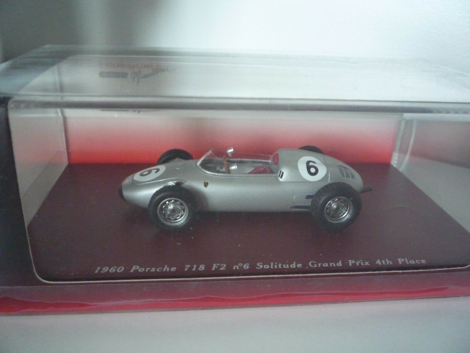TRUESCALE TSM114310 Porsche 718 F2 n°6 4th Solitude GP 1960 Graham Hill 1 43