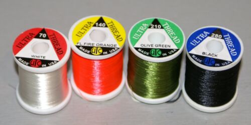 plusieurs couleurs et tailles UTC fly tying Threads 70,140,210 /& 280 DENIERS Tailles