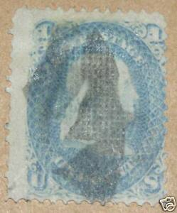 US-Ben-Franklin-Blue-Stamp-92-F-catalogue-USD500-USED