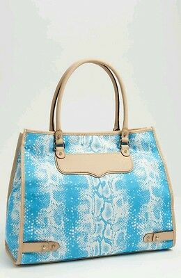 NWT Rebecca Minkoff Diamond Tote bag Canvas/Leather.  Blue or Pink. Retail $195