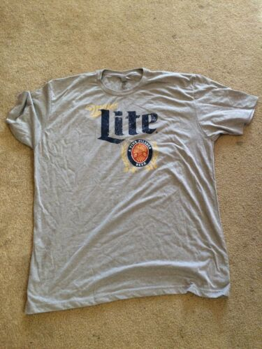 Miller Lite Beer Craft Grey Men/'s T Shirt XL