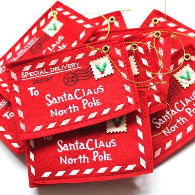 1/2pcs Christmas Santa Claus Envelope Xmas Tree Hanging Decor Kid Gift Card Bags