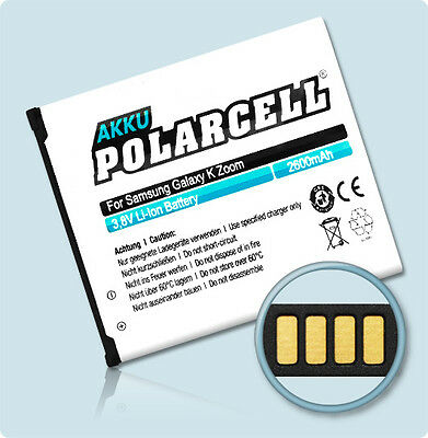 PolarCell Akku für Samsung Galaxy K Zoom SM-C111 S5 Zoom EB-BC115BBC Batterie