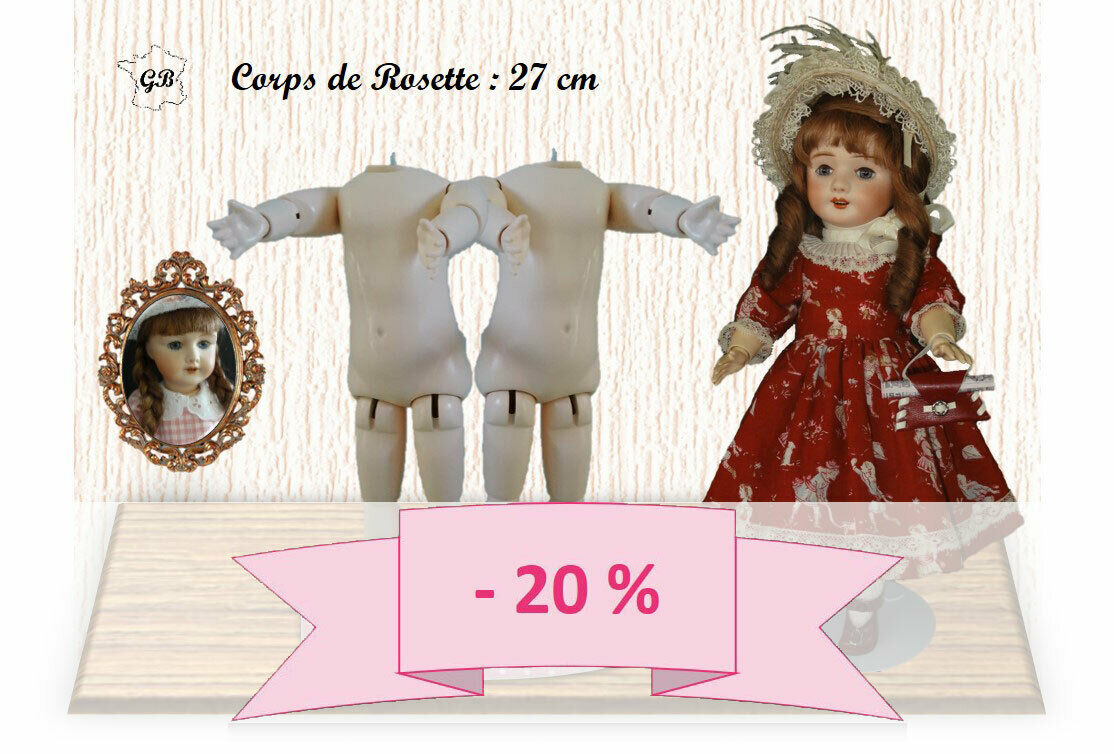 20% OFF - Set of 2 DOLL BODIES for RosaTTE or 13 14  doll - (Body Height   11 )