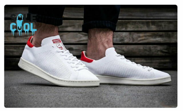 huge selection of af586 c61d0 Brand New Adidas Originals Stan Smith Primeknit PK White Red*Size  7-11*S75147