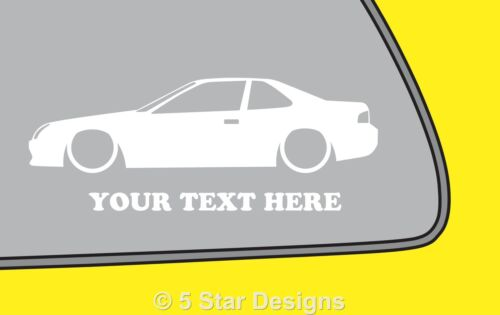 2x LOW YOUR TEXT Honda Prelude 22 Vtec VTi BB5 outline sticker 12