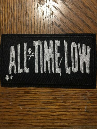 """All Time Low Band Patch Rock Music Embroidered Iron On 3.5""""x2"""""""