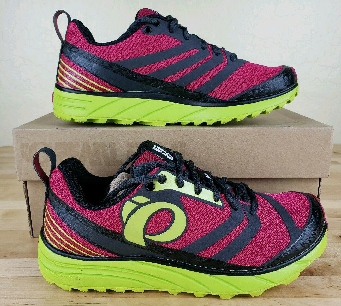 Pearl Izumi Project Emotion Trail Running shoes Womens Size  5 Pink Green New  famous brand