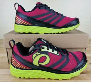 Pearl-Izumi-Project-Emotion-Trail-Running-Shoes-Womens-Size-5-Pink-Green-New