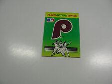 1990 Fleer Baseball Logo Stickers Philadelphia Phillies Baseball Quiz on back