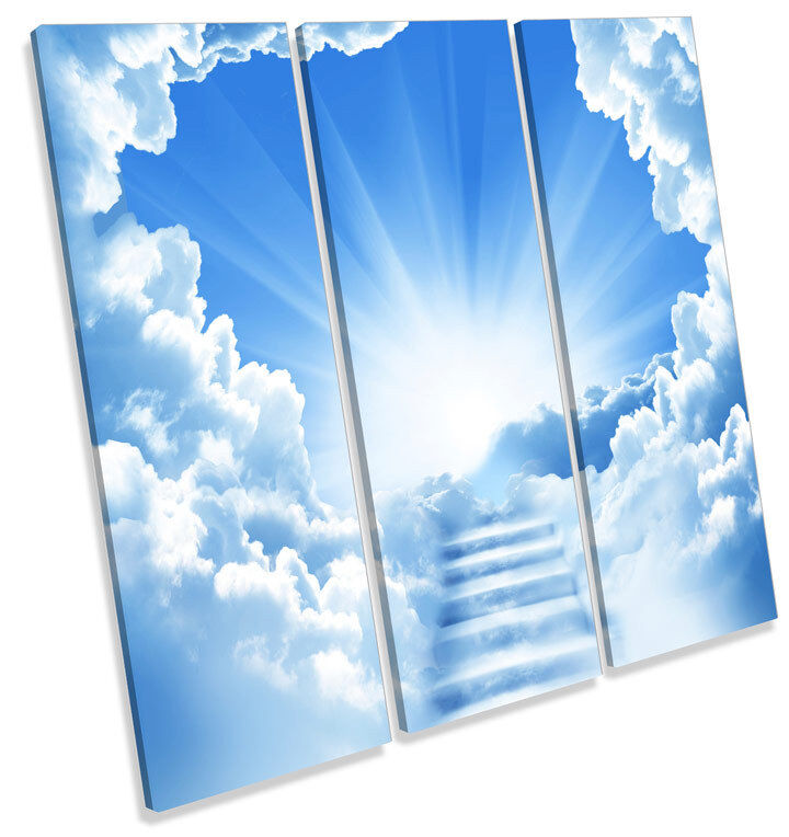 Stairway to Heaven TREBLE CANVAS WALL ART Square Print Picture