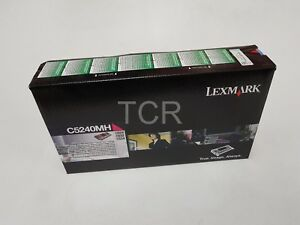 Lexmark-C5240MH-Magenta-High-Yield-Toner-Cartridge-C524-Genuine-Sealed