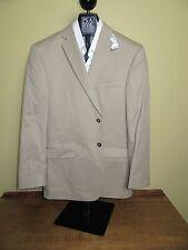 $495 New Jos A Bank JOSEPH solid Khaki Slim fit cotton suit 37 R 31 W