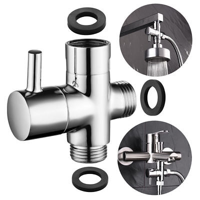 3 Way Shower Diverter Tee Connector T Adapter Valve for Bathroom G1//2  USA Selle