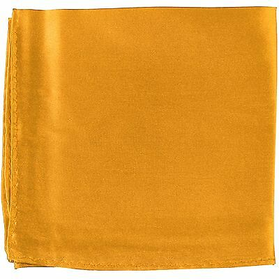 MANZO Men/'s Polyester Shiny Finish Pocket Square Hankie Only Moon Light Yellow