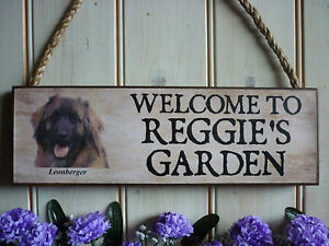 WELCOME-SIGN-PERSONALISED-GARDEN-SIGN-LEONBERGER-GIFT-DOG-SIGN-HOUSE-SIGN-PETS