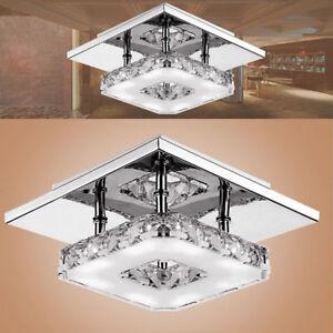Cristal Led Plafonnier Carre Dimmable Lampe De Salle De Bain