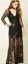 Embroidered Mesh Maxi Dress. For Girls Who Love Eleanora And Lemons. L
