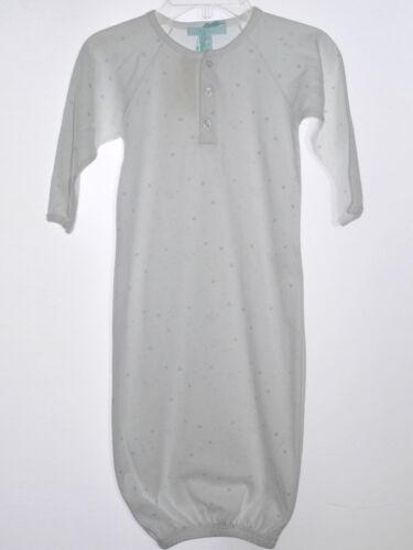 Marie Chantal Côté Ouvert Long Coton prima sommeil robe bleu sur blanc NWT