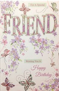 special friend birthday card  super luxury card  lovely, Birthday card