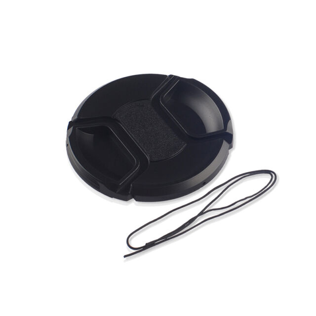 58mm Center Pinch Snap on Front Lens Cap Cover for Canon Nikon Sony w String
