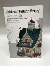 Department 56 Dickens Village Berkshire Downs Cricket Club Lit Building