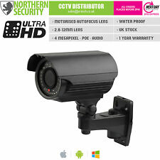 4MP MOTORIZED AUTOFOCUS 2.8-12mm 1080P P2P 40M POE AUDIO OUTDOOR IP CAMERA CCTV