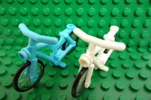 Bike NEW LEGO Minifigures Blue /& White Bicycle City Town