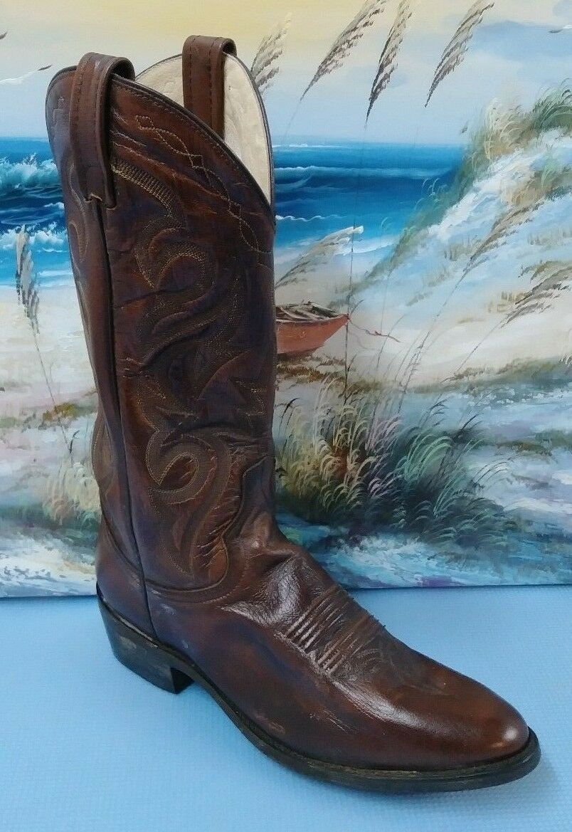 Dan Post Mens Milwaukee Antique BROWN Leather DP2111R WESTERN BOOTS SZ 8.5D
