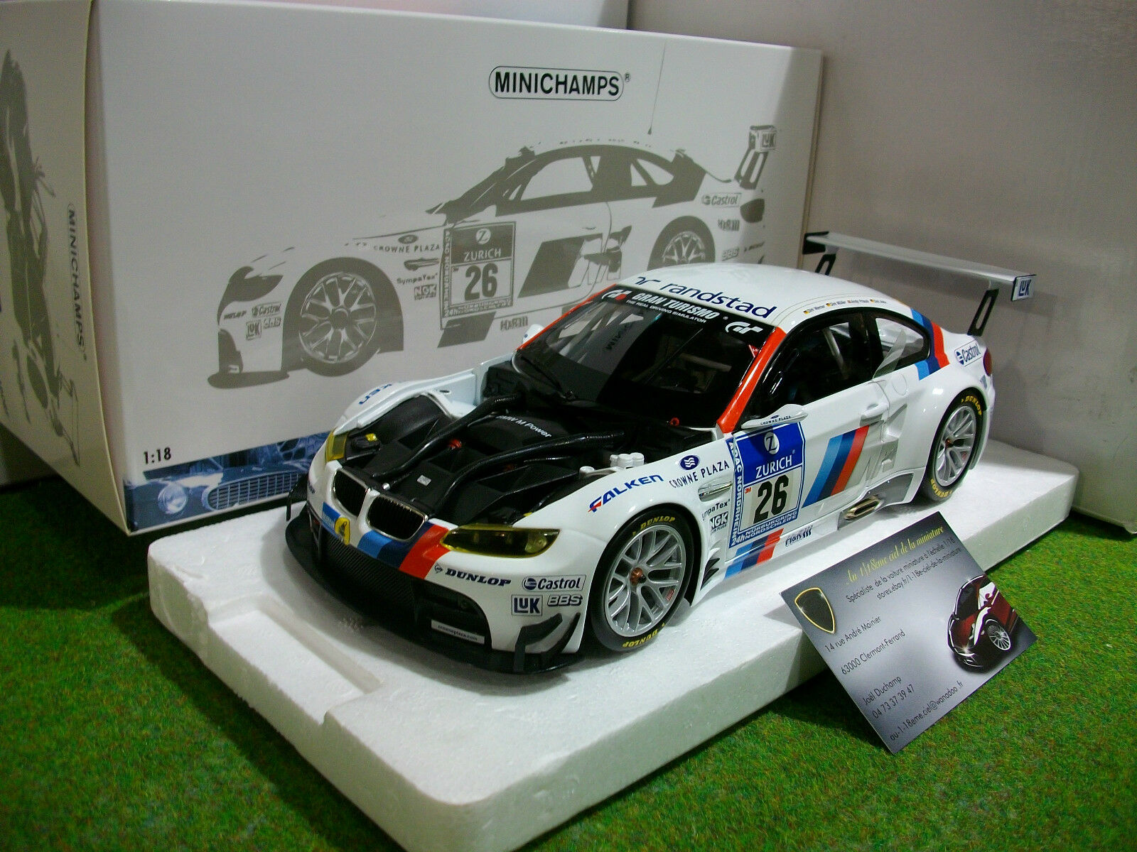 BMW M3 GT2  26 WINNER 24H 24H 24H NURBURGRING 2010 1 18 MINICHAMPS 100102026 voiture min 892841