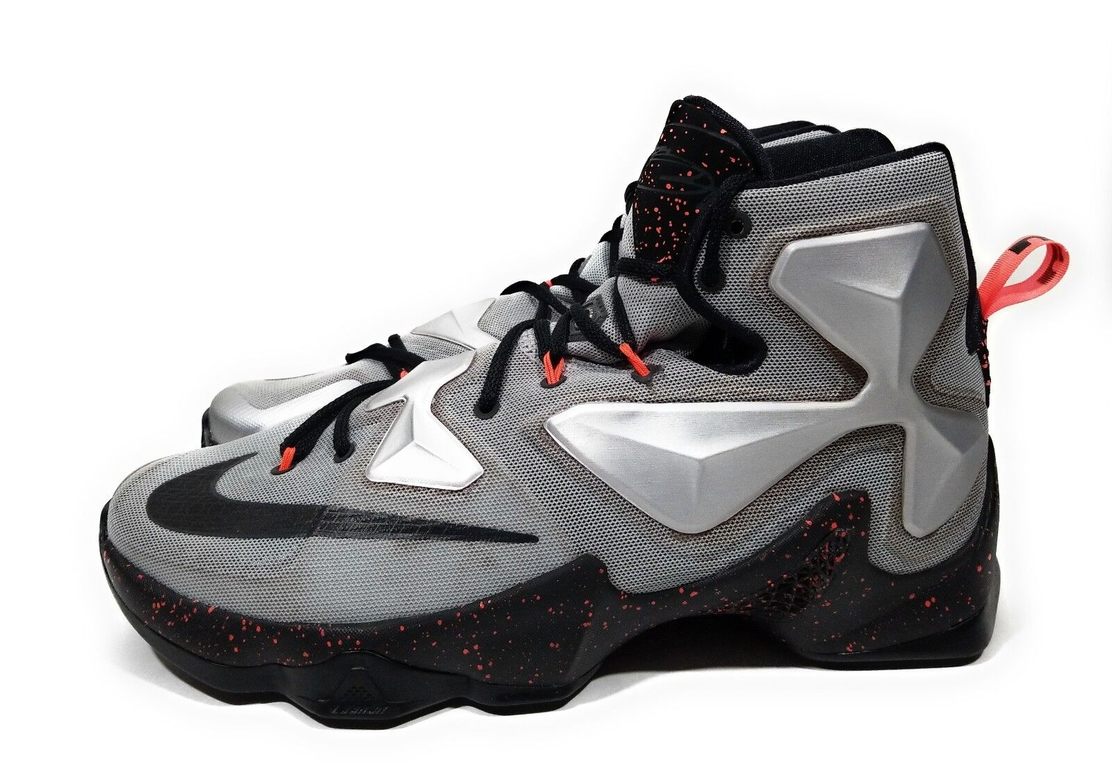 online store 0c940 ad93a Nike Lebron Lebron Lebron XIII 13 Rubber City Mens Basketball Shoes  Metallic Silver Size 12 372489