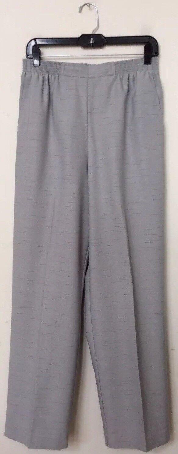 Alfred Dunner Women's Grey Multicolor Multicolor Multicolor Floral 2 Piece Pant Suit Size 10 EUC  369b9f