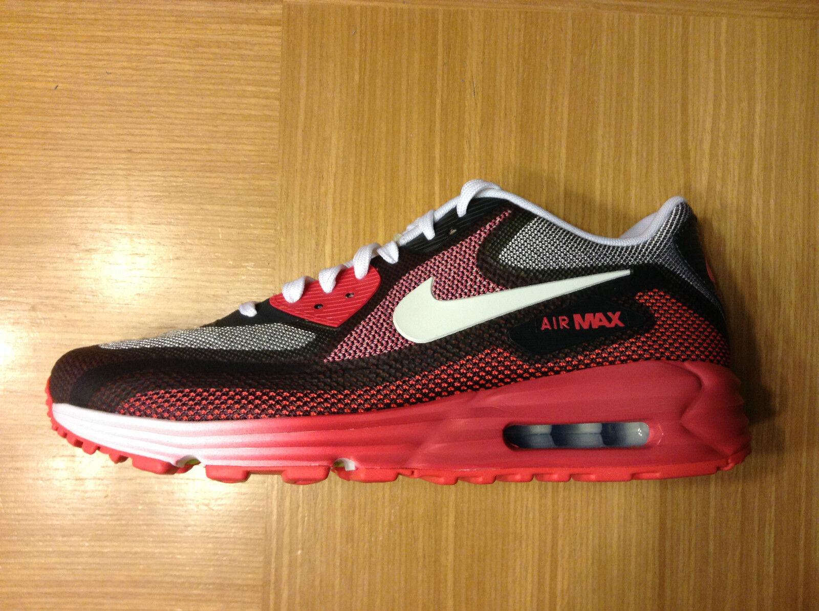 Wmns Nike Air Max Lunar90 - C3.0 Trainers-Geranium/Weiß/Grau/volt -UK 3.5-7 - Lunar90 NEW 935f43