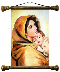 Religion-Mary-Handmade-Oil-Painting-Picture-Oil-Frame-Pictures-G01540