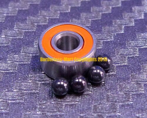 """SR2-2RS 1//8/"""" x 3//8/"""" x 5//32/"""" Hybrid Ceramic Ball Bearing R2-2RS ABEC-7 QTY 4"""
