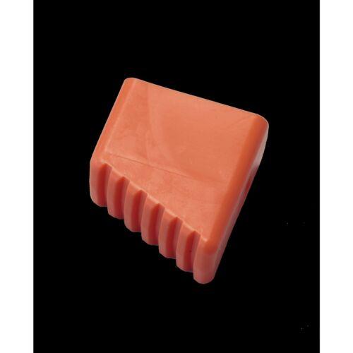 KRAUSE MONTO Fußkappe (Paar), orange, Holmgröße 40x20 mm, 211125