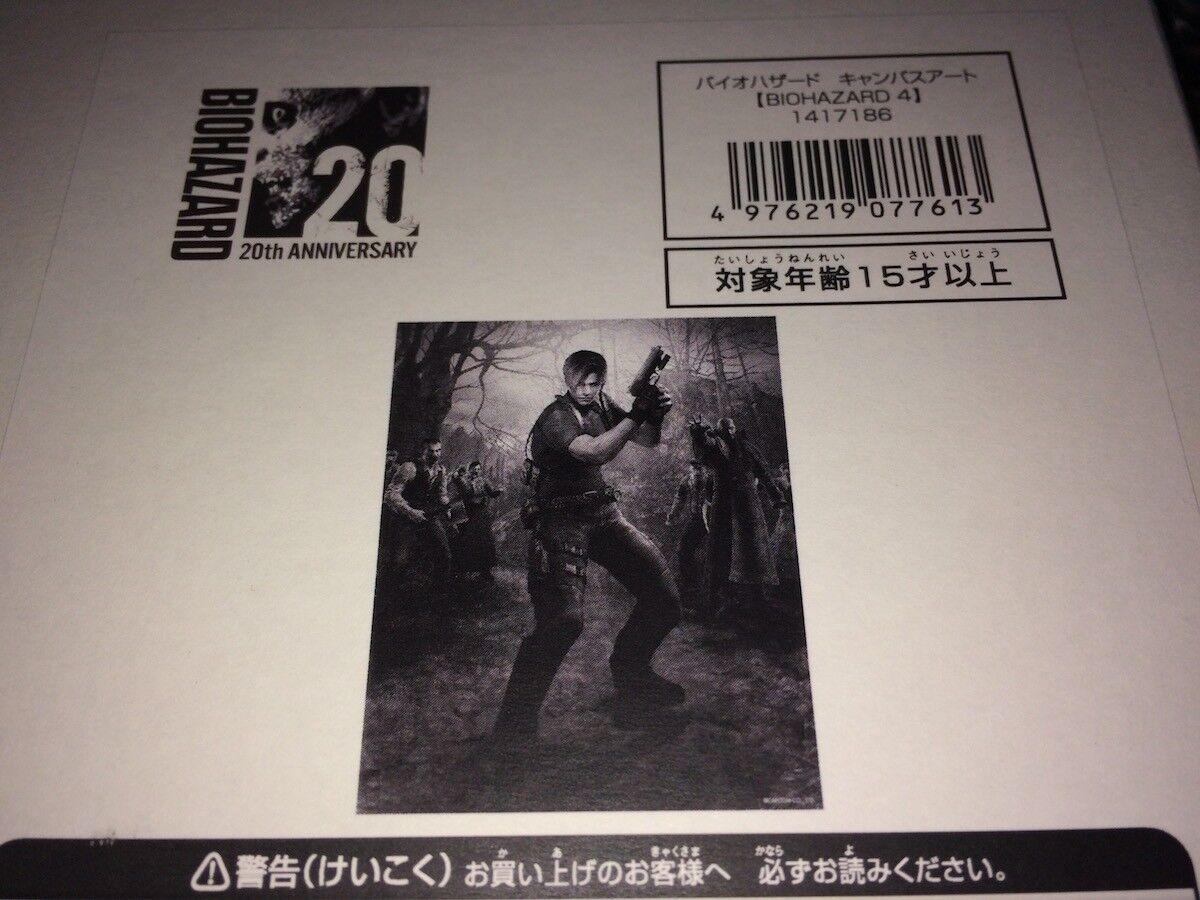 BIOHAZARD 20 e RESIDENT EVIL 4 - E -Capcom japan Ltd CANVAS konst NY MY RARE