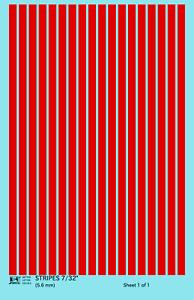 K4 HO Decals White 1//32 Inch Stripes Set