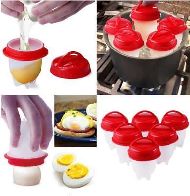 3//6//12Pcs Silicone Egg Cooker Cup Maker Hard Boil Egg Mold Kitchen Divider Tool