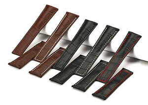 22mm-Calf-Leather-Croco-Grain-Leather-Deployment-Watch-Band-Strap-For-TAG-Heuer