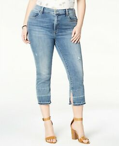 Lucky-Brand-Trendy-Plus-Size-Cuff-Slit-Cropped-Jeans