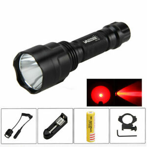 LED Tactical Hunt Flashlight Hunting Torch Red//Green//White Ray Handheld Lamps