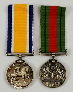Pair-of-Full-Size-Replica-Service-Dress-Medals-Defence-Medal-Imperial-Forces