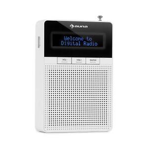 DAB-Steckdosen-Radio-UKW-Radio-Tuner-Box-Bluetooth-Lautsprecher-LCD-Display-weiss