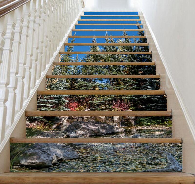 3D Baum Strom 7892  Stair Risers Dekoration Fototapete Vinyl Aufkleber Tapete DE